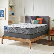 Queen Sealy Crown Jewel Value Black Opal Cushion Firm 12.5 Inch Mattress