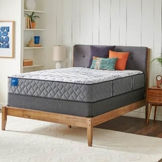 Queen Sealy Crown Jewel Value Black Opal Plush 12.5 Inch Mattress