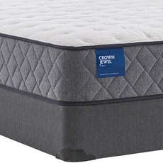 Full Sealy Crown Jewel Value Scallop Pearl Cushion Firm 10.5 Inch Mattress
