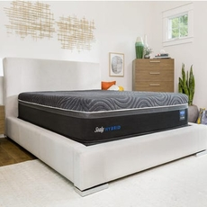Sealy Posturepedic Hybrid Premium Silver Chill Plush 14 Inch Queen Mattress Only SDMB0321106 - Scratch and Dent Model ''As-Is''
