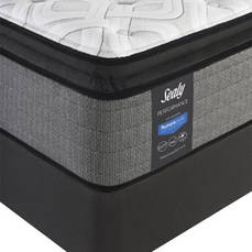 Queen Sealy Posturepedic Response Performance Cooper Mountain IV Cushion Firm Pillow Top 14 Inch Mattress with Ergo Extend Adjustable Base