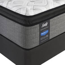 Queen Sealy Posturepedic Response Performance Cooper Mountain IV Plush Pillow Top Mattress with Ease 3.0 Adjustable Base