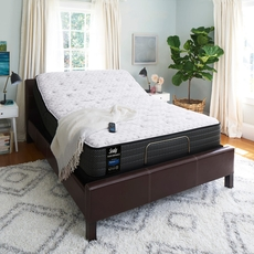 Queen Sealy Posturepedic Response Performance Mountain Ridge IV Plush 11.5 Inch Mattress with Ergo Adjustable Base