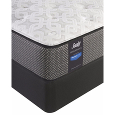 King Sealy Posturepedic Response Performance Santa Paula IV Cushion Firm Mattress with Reflexion 4 Adjustable Power Base Foundation