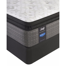 Queen Sealy Posturepedic Response Performance Santa Paula IV Cushion Firm Pillow Top Mattress with Reflexion 4 Adjustable Power Base Foundation