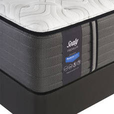 King Sealy Posturepedic Response Premium Barrett Court IV Cushion Firm Mattress with Ease 2.0 Adjustable Base