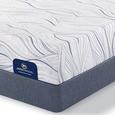 Queen Serta Perfect Sleeper Foam Howerton II Plush Mattress with Motion Perfect III Adjustable Base