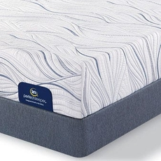 King Serta Perfect Sleeper Foam Howerton II Plush Mattress with Motion Essential III Adjustable Base