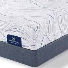 King Serta Perfect Sleeper Foam Killingsworth II Plush Mattress with Motion Custom II Adjustable Base