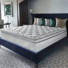 Queen Serta Perfect Sleeper Hotel Sapphire Suite II Plush Pillow Top Double Sided 14.25 Inch Mattress