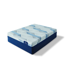King Serta iComfort Blue 100 Gentle Firm Mattress with Motion Custom II Adjustable Base + FREE Amazon Echo Show