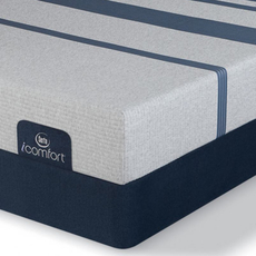 King Serta iComfort Blue 100 Gentle Firm Mattress with Motion Custom II Adjustable Base
