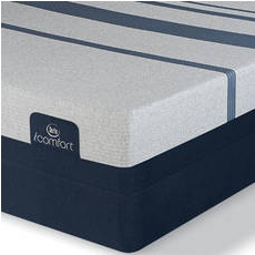 King Serta iComfort Blue 300 Firm Mattress with Motion Custom II Adjustable Base