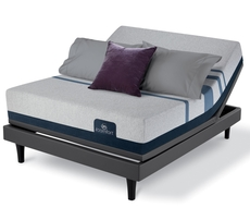 King Serta iComfort Blue 500 Plush Mattress with Motion Essential III Adjustable Base