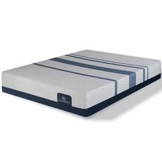 Queen Serta iComfort Blue 500 Plush Mattress with Motion Custom II Adjustable Base