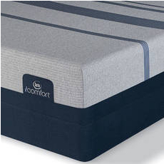 King Serta iComfort Blue Max 1000 Cushion Firm Mattress with Motion Custom II Adjustable Base