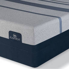 Queen Serta iComfort Blue Max 1000 Plush Mattress with Motion Essential III Adjustable Base