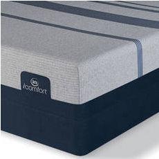 King Serta iComfort Blue Max 1000 Plush Mattress with Motion Custom II Adjustable Base