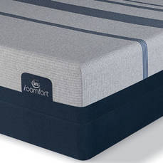 King Serta iComfort Blue Max 3000 Elite Plush Mattress with Motion Essential III Adjustable Base