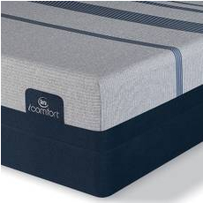 King Serta iComfort Blue Max 5000 Elite Luxury Firm Mattress with Motion Custom II Adjustable Base