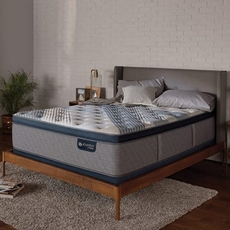 King Serta iComfort Hybrid Blue Fusion 1000 Plush Pillow Top Mattress + FREE $100 Gift Card
