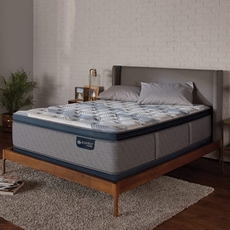 King Serta iComfort Hybrid Blue Fusion 300 Plush Pillow Top Mattress + FREE $300 Visa Gift Card