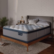 King Serta iComfort Hybrid Blue Fusion 5000 Cushion Firm Pillow Top 16 Inch Mattress
