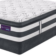 Queen Serta iComfort Hybrid Expertise Super Pillow Top Mattress with Motion Custom II Adjustable Base