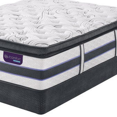 Queen Serta iComfort Hybrid HB500Q Super Pillow Top Mattress with Motion Custom II Adjustable Base