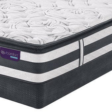 Queen Serta iComfort Hybrid Observer Super Pillow Top Mattress with Motion Custom II Adjustable Base