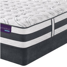 Queen Serta iComfort Hybrid Recognition Extra Firm Mattress with Motion Perfect III Adjustable Base