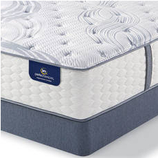 King Serta Perfect Sleeper Elite Mendelson II Plush Mattress with Motion Custom II Adjustable Base