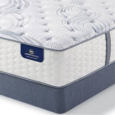King Serta Perfect Sleeper Elite Mendelson II Plush Mattress with Motion Perfect III Adjustable Base