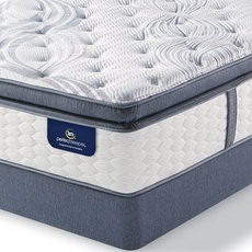 King Serta Perfect Sleeper Elite Mendelson II Super Pillow Top Firm Mattress with Motion Essential III Adjustable Base
