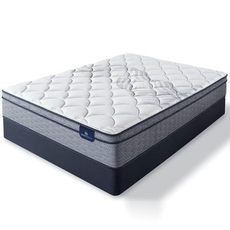 Cal King Serta Perfect Sleeper Elkins II Plush Euro Top 10 Inch Mattress