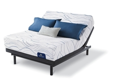 Queen Serta Perfect Sleeper Foam Lorabelle II Luxury Firm Mattress with Motion Essential III Adjustable Base