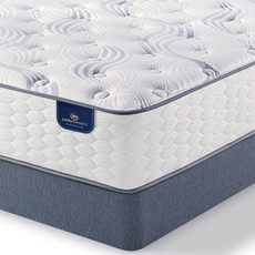 King Serta Perfect Sleeper Select Belltower II Plush Mattress with Motion Custom II Adjustable Base