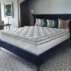 Full Serta Perfect Sleeper Hotel Sapphire Suite II Euro Top Double Sided 14.25 Inch Mattress 2 Pack