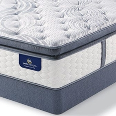 Queen Serta Perfect Sleeper Elite Rushcroft II Super Pillow Top Mattress with Motion Perfect III Adjustable Base