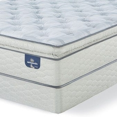 Queen Serta Sertapedic Hardwick II Super Pillow Top Plush Mattress with Motion Essential III Adjustable Base