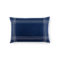 SFERRA Chianni Decorative Pillow in Navy/White