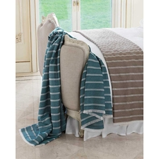 SFERRA Marice Decorative Throw in Peacock