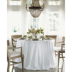 SFERRA Acanthus 90 x 90 Square Tablecloth in White