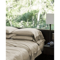 SFERRA Larro King Fitted Sheet in Nougat