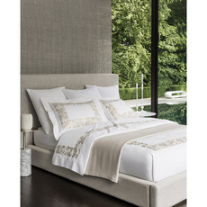 SFERRA Saxon King Duvet Cover in Champagne