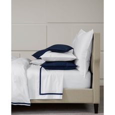 SFERRA Larino King Fitted Sheet in Navy
