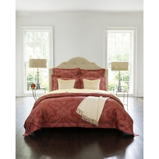 SFERRA Miretta King Duvet Cover in Parchment