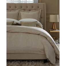 SFERRA Chetta King Duvet Cover in Alabaster