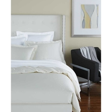 SFERRA Savio Cal King Fitted Sheet in White