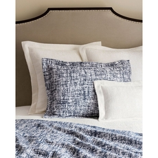 SFERRA Lando King Coverlet in White/Navy